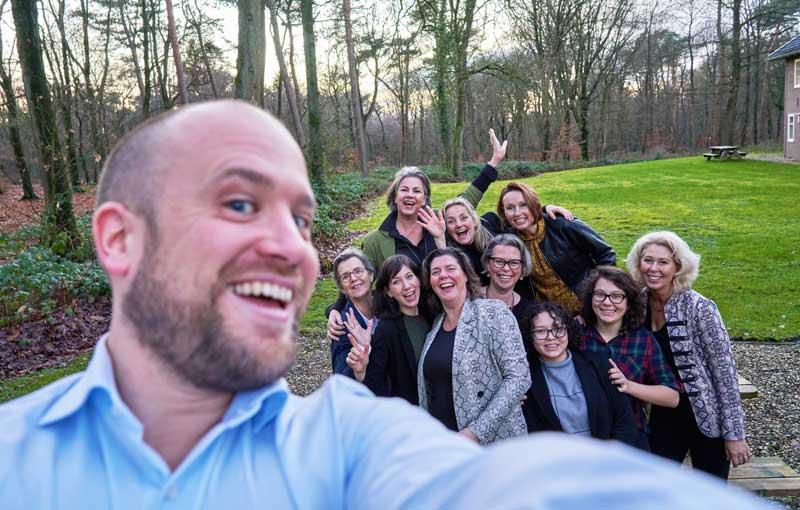 Een selfie met het Hermonde team